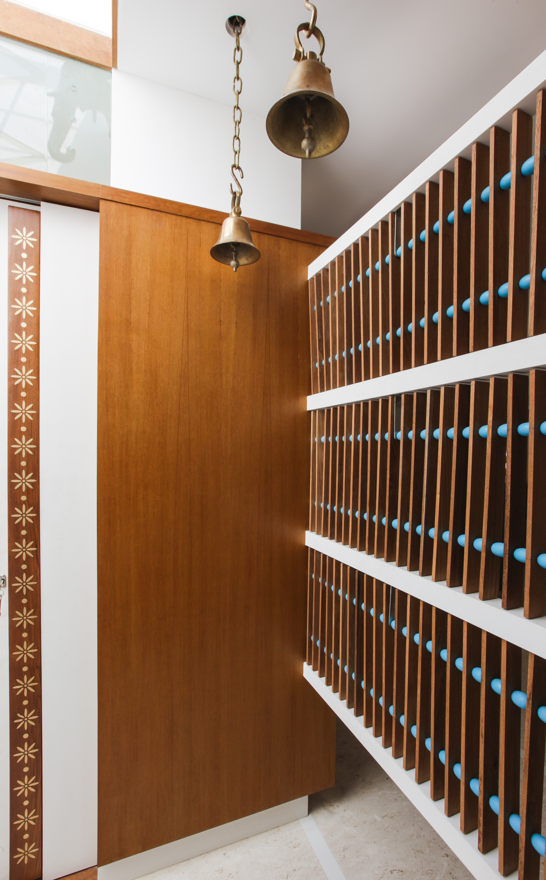 Detailing of the pooja room space