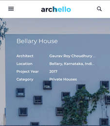 2020 Bellary House: Pubished in Archello