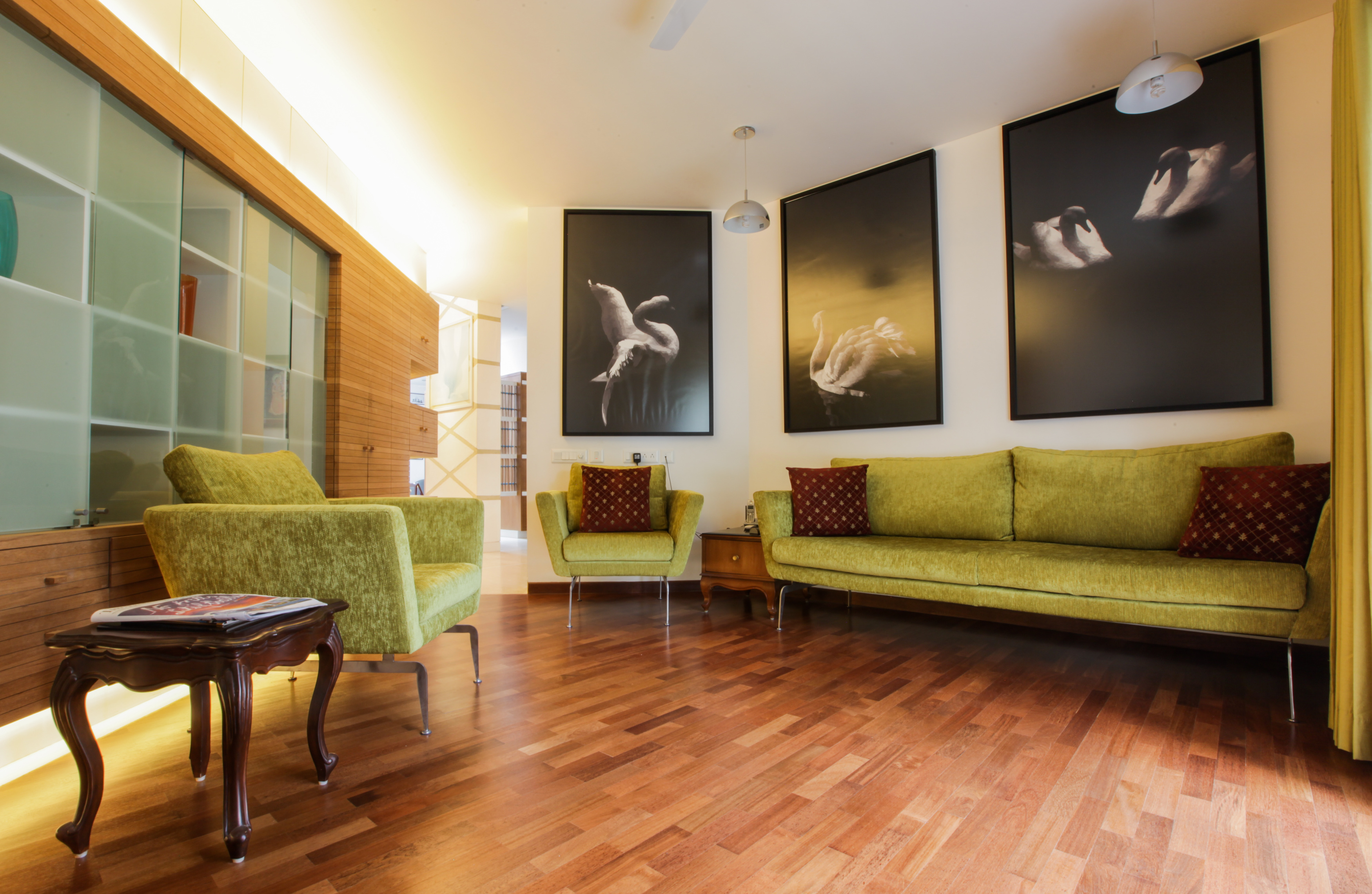 The family room sitting area