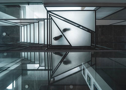 The glass Terrace staircase from below