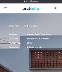 2020 Inside Out House: Pubished in Archello