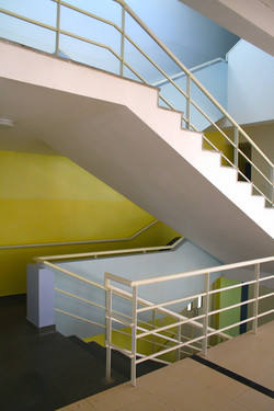 Internal factory staircase
