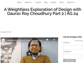 2019 GRCA: Interviewed by Archgyan Podcast