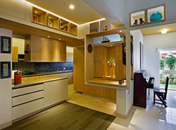 Kitchen and breakfast counter