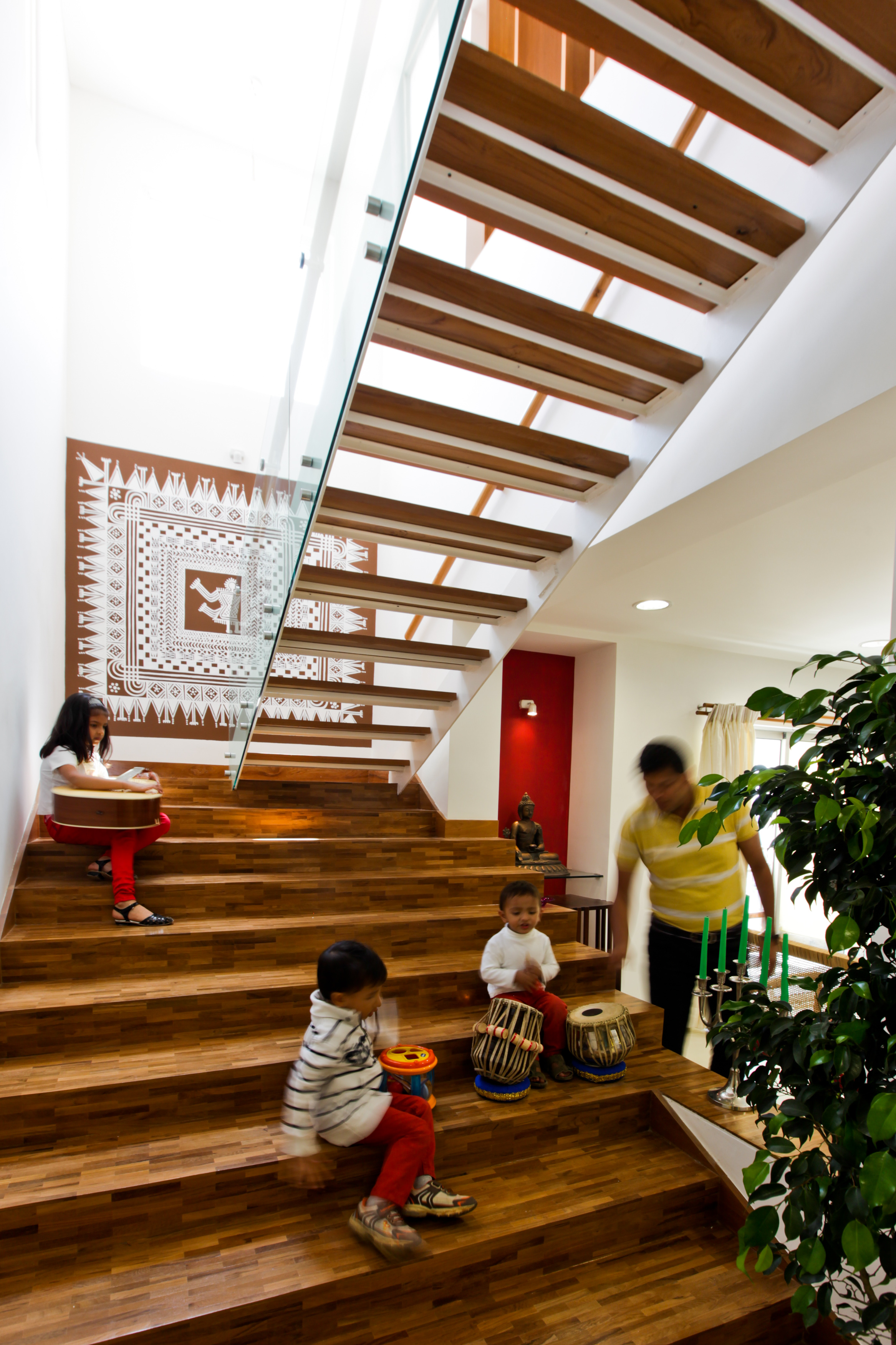 Staircase becomes a hinge for all social engagement