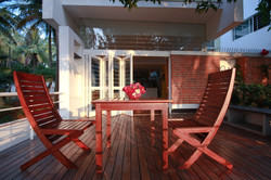 The deck during the evening
