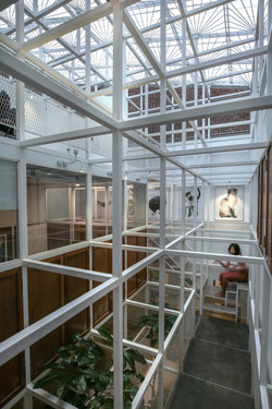 View of internal frame and staircase
