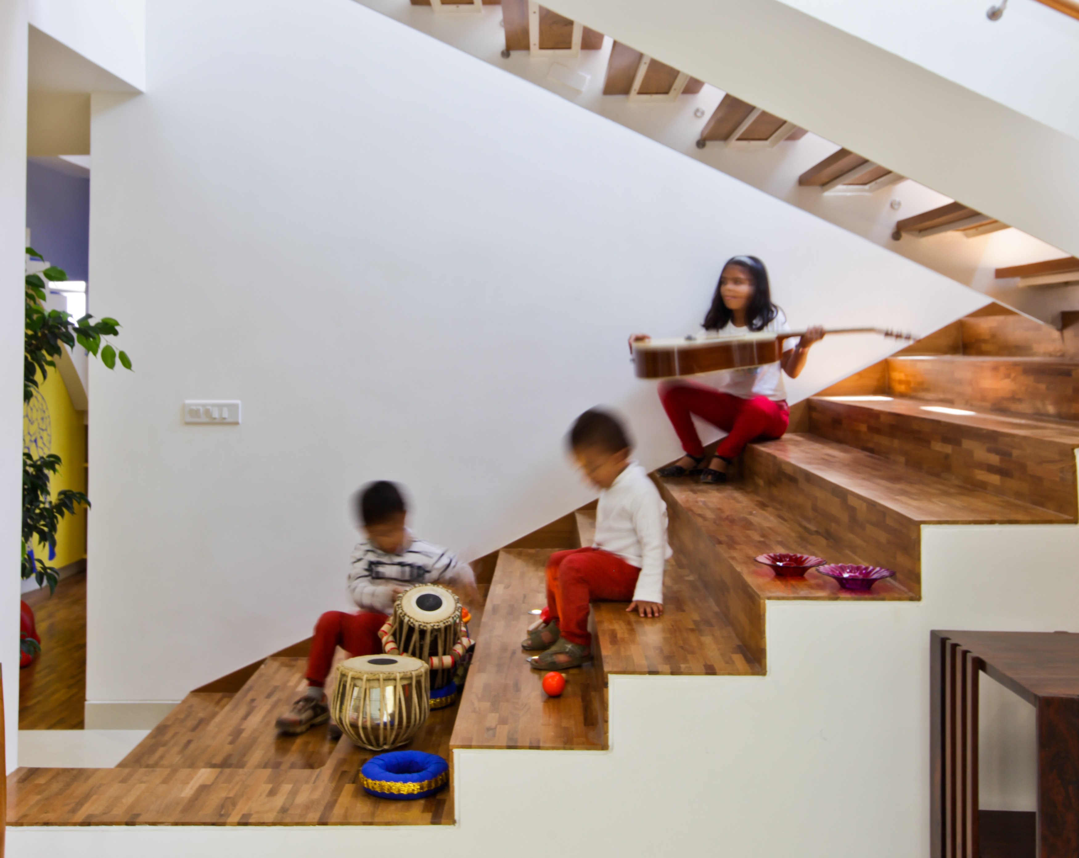Staircase as a family activity space