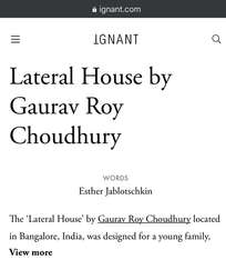 2013 Lateral House : Published in Ignant
