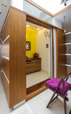 The pooja room nook