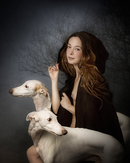 SM _ Lady with dogs portrait