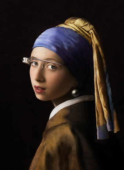 SM _ Girl with a Pearl Earring and Google Glass