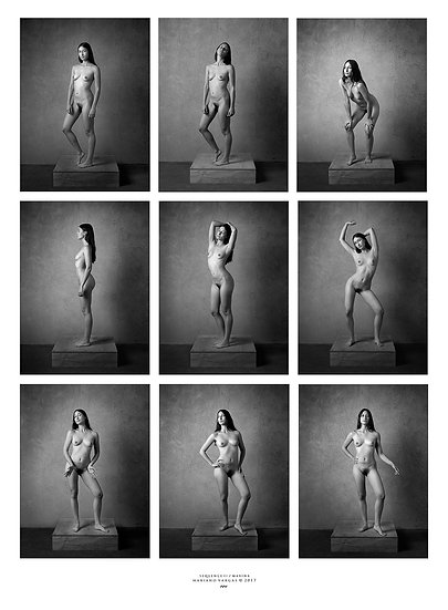 Improvised nude _ Photoshoot 100 _ Poster