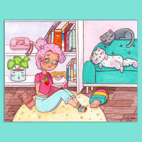 ilustração ORIGINAL - Cozy