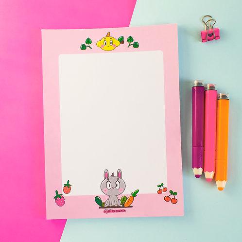 Bunny | Bloco de Notas | Bloco de Papel de Carta | lily&puka