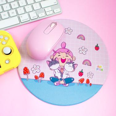 Mousepad - Gatinhas (20cm x 20cm) - redondo