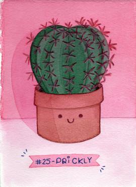 Dia 25 - Prickly (espinhoso)