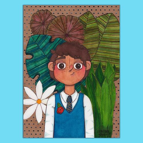 ilustração em Aquarela ORIGINAL - Plant Boy