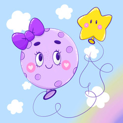 Moon + star