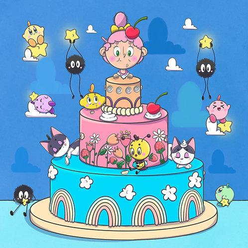 Print quadrado - Love for Cake