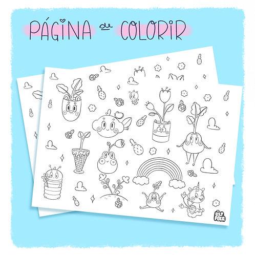 Página de Colorir - Plantinhas (DIGITAL)