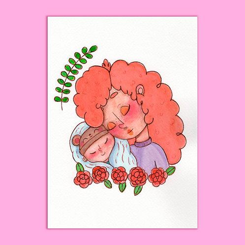 ilustração em Aquarela ORIGINAL - Sweet Baby