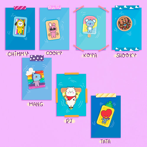 mini Print BT21 - Summer Time by lily&puka
