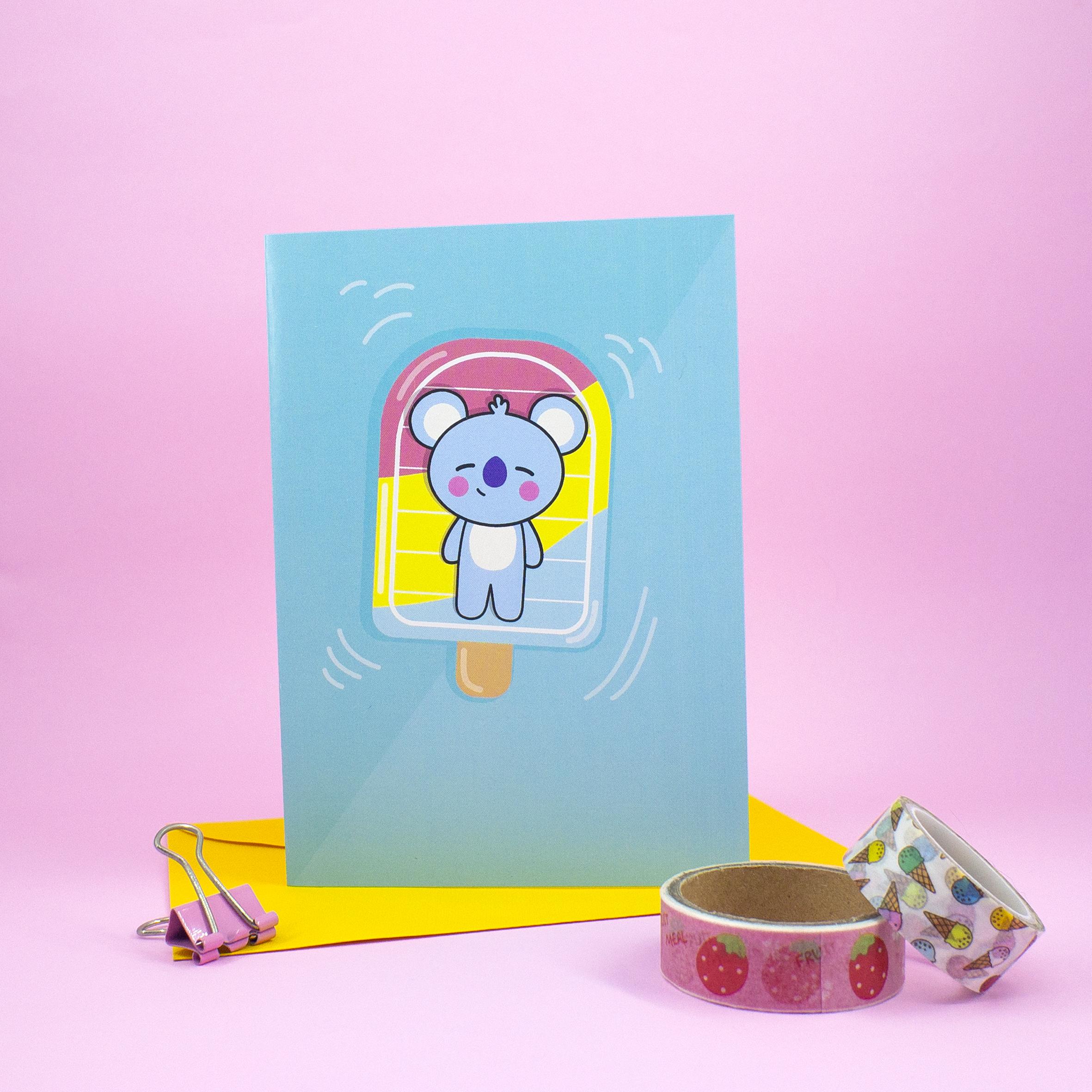 Cartões de Saudação inspirados no personagens do BT21 | Line Friends