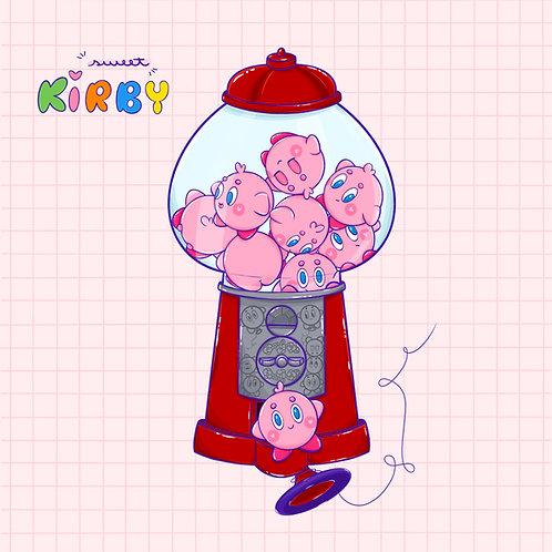 Print quadrado - Sweet Kirby