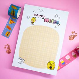 Happy Notes - 25 folhas - 14,8cm x 21cm
