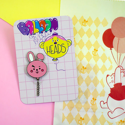 pin de metal - Cooky - BT21 by lily&puka