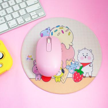 Mousepad - BT21 (20cm x 20cm) - redondo