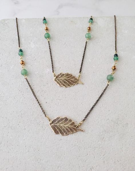 Ash leaf necklaces