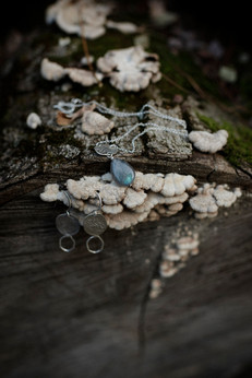Sterling silver jewelry set, earth inspiration