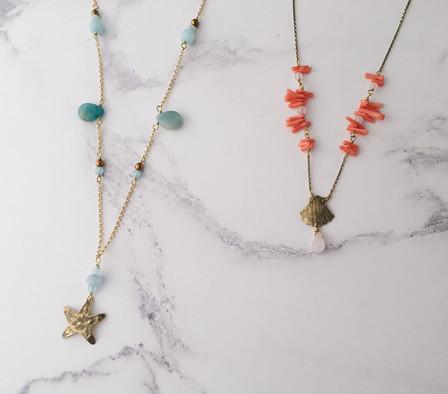 Ocean seaside beach necklaces