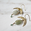 Thumbnail: Boho crescent moon earrings, green aquamarine & aventurine gemstones
