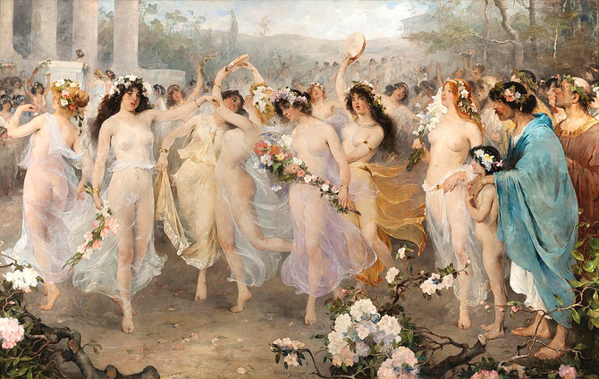 Inspiration: the goddess Flora and Floralia festival