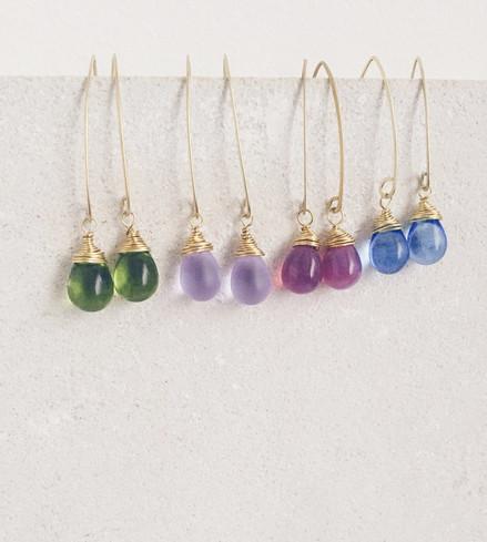 Glass drops earrings