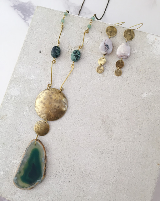 Ancient Queens collection, Earth Element jewellery