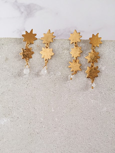 Northern Star earrings - 22kt gold plated brass