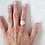 Thumbnail: Howlite sterling silver ring, white & grey gemstone, full moon ring, marble ring