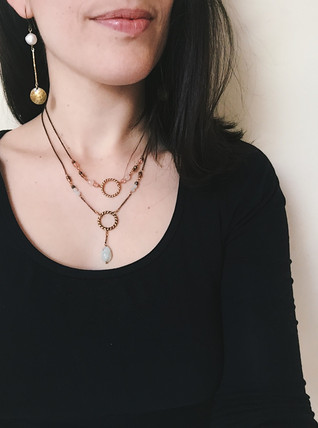Dark Moon collection - new moon necklace