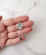 Reticulated silver + labradorite