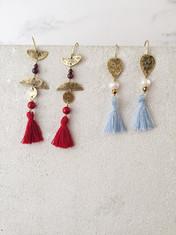 Ancient Queens tassel earrings