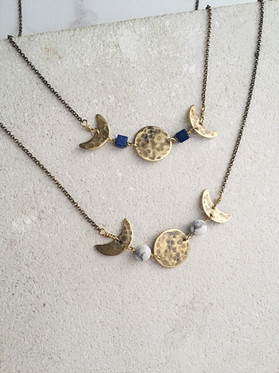 Triple Moon Phases necklaces