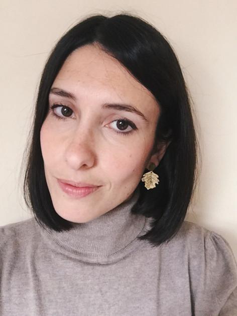 Sycamore leaf earrings