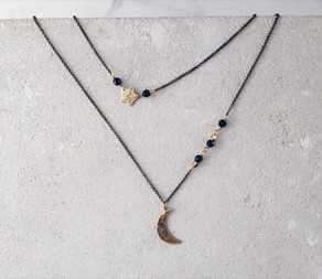 Shooting Star double necklace.