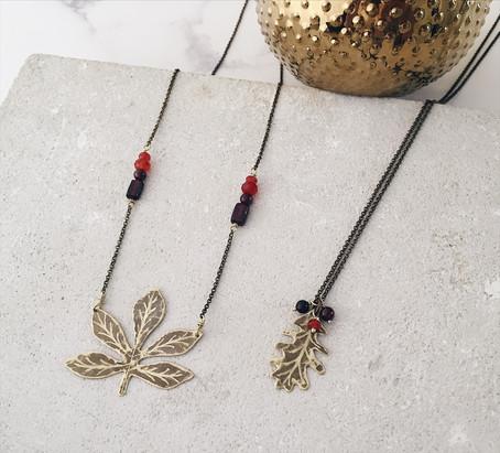 Horse Chestnut necklace, English Oak pendant