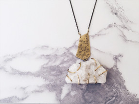 Statement necklace OOAK, crystal quartz