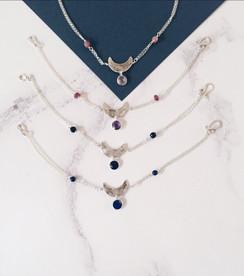 Sterling silver moon bracelets